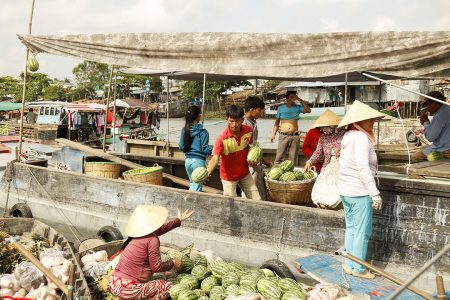 This type of market can be found in most provinces of Mekong and some big and famous floating markets are Cai Rang, Phong Dien (CanTho City)